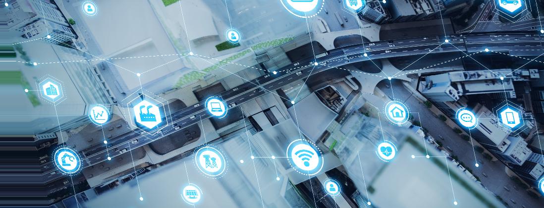 Anaxco Teaserbild TMS Vernetzung Stadt Autobahn Speditionssoftware Logistiksoftware Transportmanegement Logistik-IT