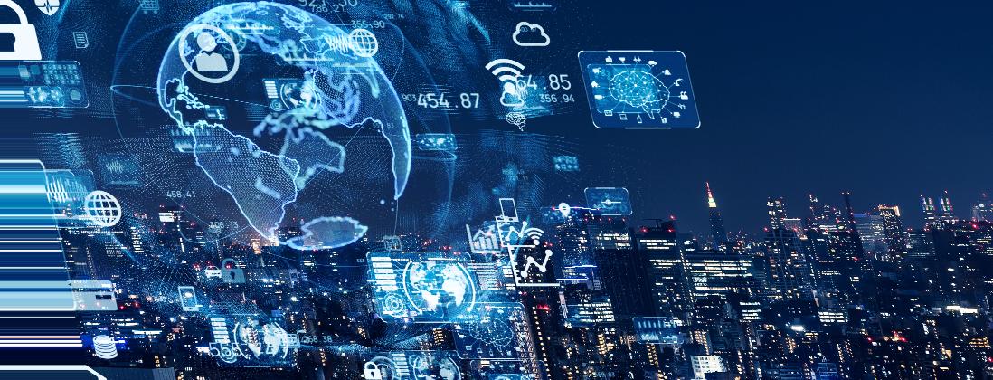 Anaxco Teaserbild TMS Stadt bei Nacht Analyse Speditionssoftware Logistiksoftware Transportmanegement Logistik-IT